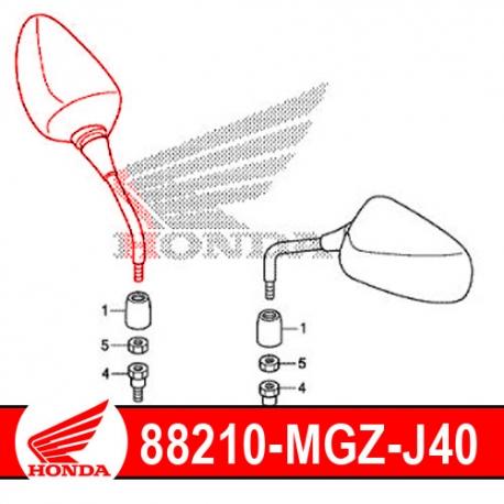 88210-MGZ-J40 : Retroviseur droit d'origine Honda CB500X CB500F CBR500R
