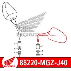 88220-MGZ-J40 : Honda Left Mirror CB500