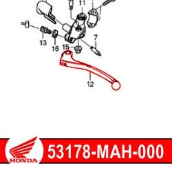Honda OEM clutch lever