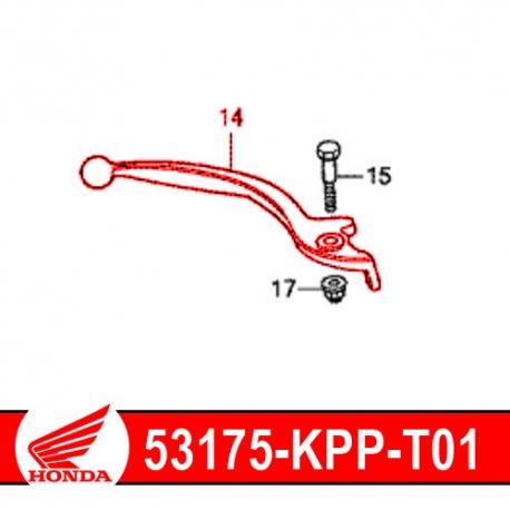 53175-KPP-T01 : Honda OEM brake lever CB500X CB500F CBR500R