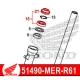 51490-MER-R61 : Honda OEM fork seal CB500X CB500F CBR500R