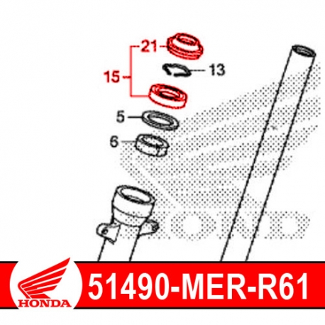 51490-MER-R61 : Joint spi origine Honda CB500X CB500F CBR500R