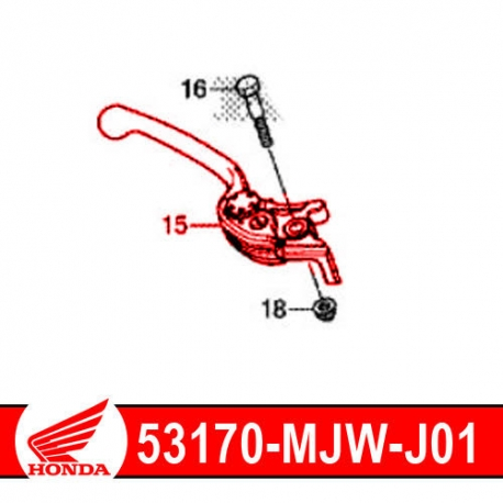 53170-MJW-J01 : Honda OEM brake lever CB500X CB500F CBR500R