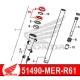 51490-MKA-D81 : Honda OEM fork seal CB500X CB500F CBR500R