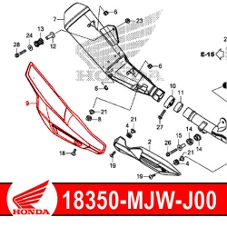 18350-MJW-J00 : Honda exhaust protection shield CB500X CB500F CBR500R