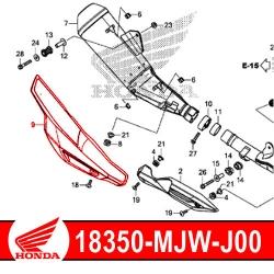 18350-MJW-J00 : Honda exhaust protection shield CB500X CB500F CBR500R