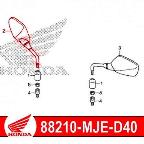 88210-MJE-D40 : Honda Right Mirror CB500X CB500F CBR500R