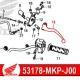 53178-MKP-J00 : Levier embrayage origine Honda CB500X CB500F CBR500R