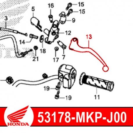 53178-MKP-J00 : Honda OEM clutch lever CB500X CB500F CBR500R