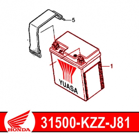 31500-KZZ-J81 : Honda Yuasa OEM battery YTZ8V CB500X CB500F CBR500R