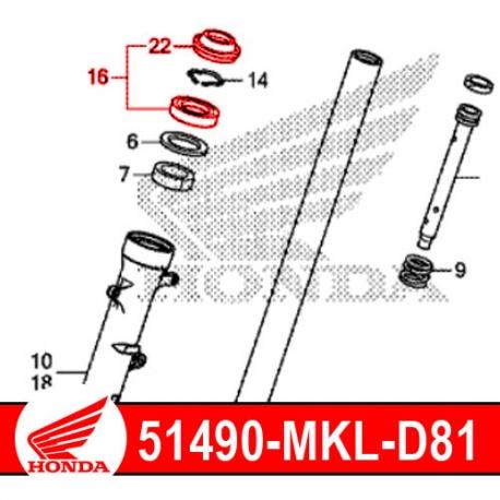 51490-MKL-D81 : Honda OEM fork seal CB500X CB500F CBR500R