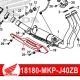 18180-MKP-J40ZB : Couvercle protection de collecteur origine CB500X CB500F CBR500R