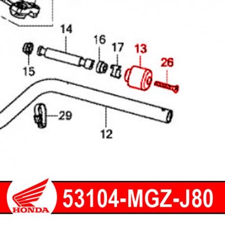 53104-MGZ-J80 + 90191-MGZ-J00 : Embout de guidon d'origine Honda CB500X CB500F CBR500R