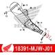 18391-MJW-J01 : Honda OEM silencer gasket CB500X CB500F CBR500R