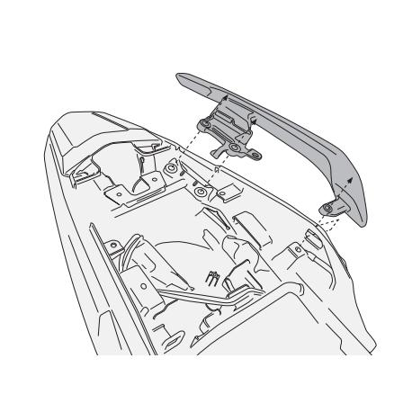 1121KIT : Kit support valise PLX CB500X CB500F CBR500R