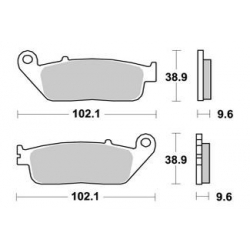 LMP300SF : AP Racing Front braking pads X-ADV
