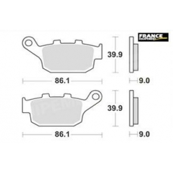 LMP481SR : AP Racing rear braking pads X-ADV