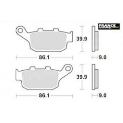 LMP481SR : Plaquettes de frein arrière AP Racing CB500
