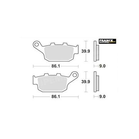 LMP481SR : Plaquettes de frein arrière AP Racing X-ADV