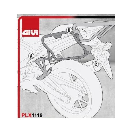 PLX1119 : Support de valises latérales Givi PLX1119 CB500