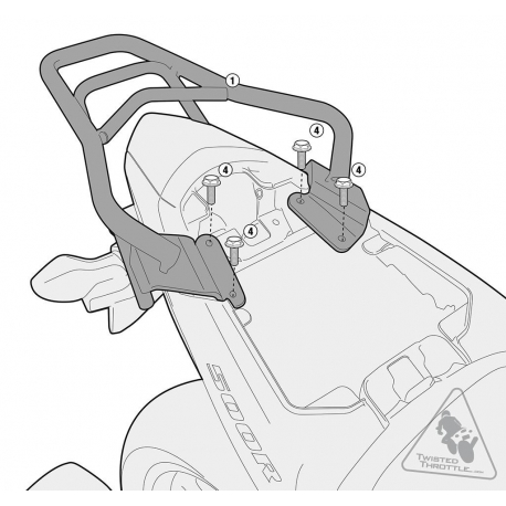 SR1119 : Support top case Givi CB500