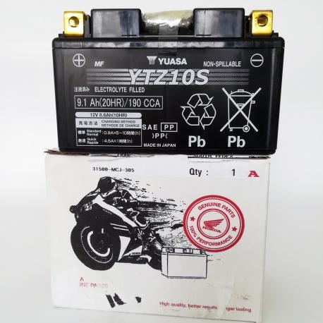 31500-MCJ-305 : Batterie d'origine Honda YTZ10S CB500X CB500F CBR500R